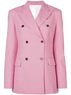 Calvin Klein 205w39nyc - Pink Grid Blazer - Women