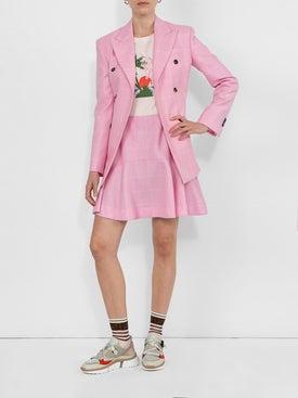 Calvin Klein 205w39nyc - Pink Checked Mini Skirt - Women
