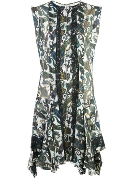 Printed panel dress