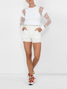 contrast piping shorts