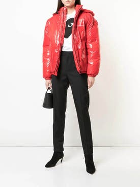 Givenchy - Hooded Puffer Coat Red - Women