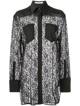 lace blouse BLACK
