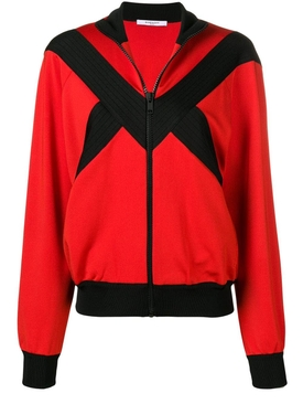 contrast panel zipped jacket