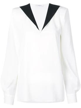 Givenchy - Contrast Collar Blouse White - Women
