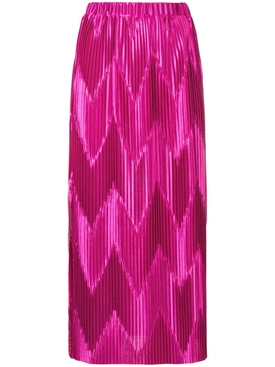 zig-zag pleated skirt