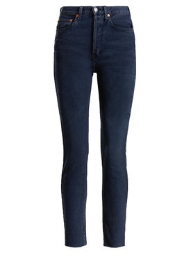 Re/done - High Rise Ankle Crop Skinny Jeans - Women