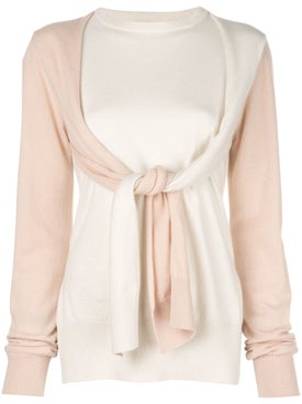 Loewe - Panelled Tie-sleeve Sweater - Women