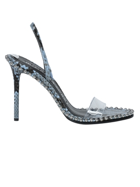 Alexander Wang - Blue Snake Print Nova Sandals - Women