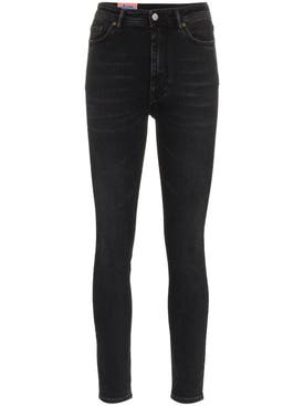 Acne Studios - Mid-rise Peg Black Washed Skinny Jeans - Women