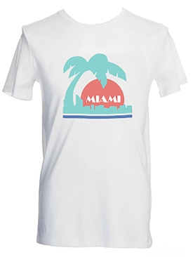 WHITE MIAMI T-SHIRT