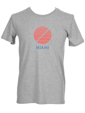 Grey Miami T-shirt