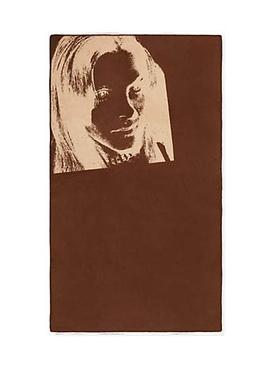 Calvin Klein X Andy Warhol Sandra Brant blanket BLUE