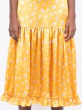 The Vampire's Wife - Yellow Hummingbird Dress - Mid-length