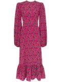 The Vampire's Wife - Belle Blouson Sleeve Floral Print Midi Dress - Women
