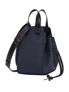 Small Hammock Leather bag MIDNIGHT BLUE/BLACK