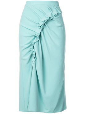ruffled midi skirt SOFT JADE