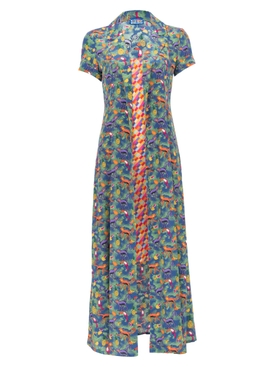 Careyes Quirky print and Bright Checks Marlin Dress