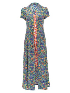 Lhd - Careyes Quirky Print And Bright Checks Marlin Dress - Women