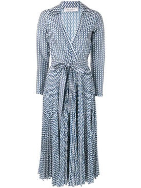 Valentino - Printed Belted Dress - Women