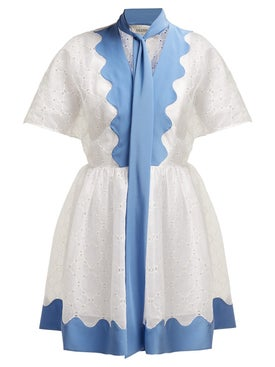 Valentino - Cotton Eyelet Dress - Women
