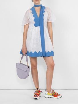Cotton Eyelet dress WHITE