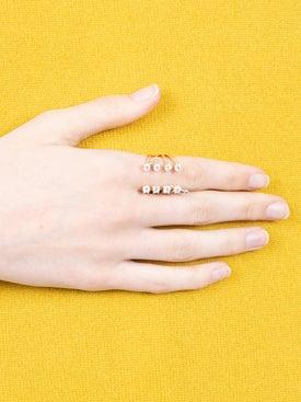 Delfina Delettrez - Diamond Dots Pierced Ring - Women