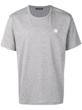 Acne Studios - Nash Face T-shirt Light Grey - Men