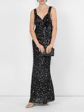 Attico - Long Sequined Dress - Women