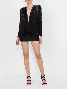 Attico - Embellished Jersey Mini Dress - Women