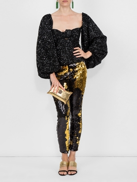 Sequined blouse BLACK