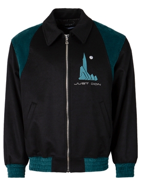 Plain Wool Drap Jacket Black
