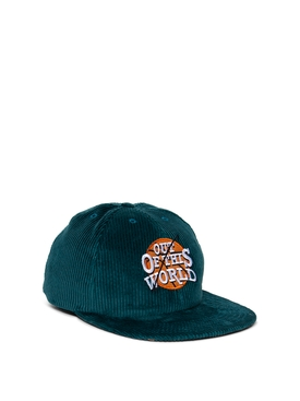 OUT OF THIS WORLD CORDUROY CAP TURQUOISE
