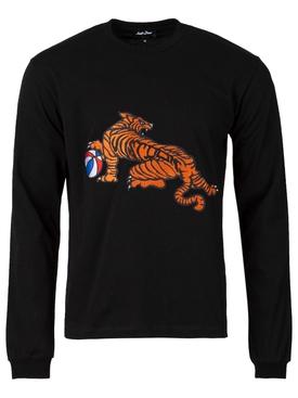 Tiger long sleeve jersey t-shirt black