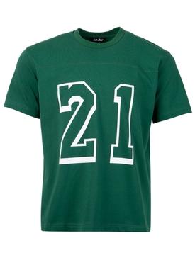 21 FOOTBALL JERSEY TEE GREEN