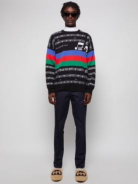 Musical Notes Sweater Black