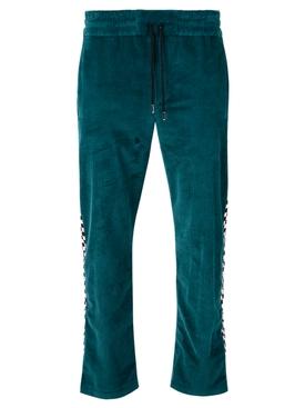 Plain Corduroy Pants Turquoise