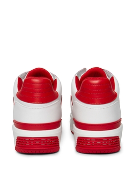 Luxury Courtside Low Sneakers White and Red