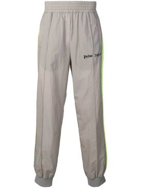 Side Stripe track pants GREY-NEON YELLOW
