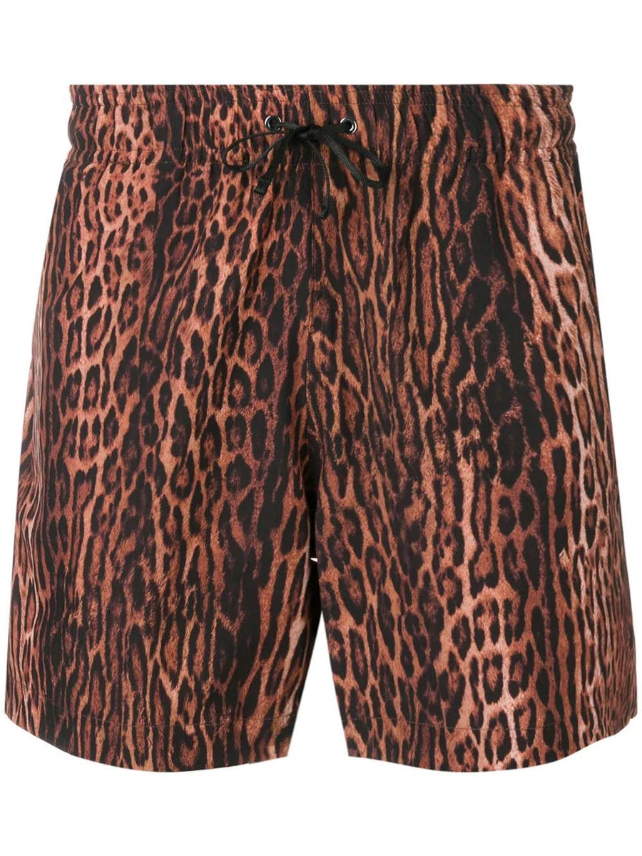 Amiri Shorts leopard shorts brown