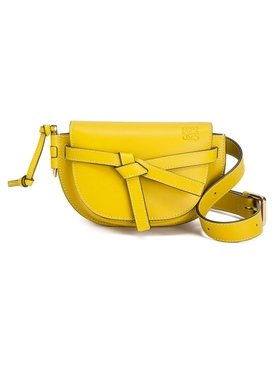gate belt bag leather YELLOW