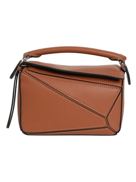 Mini Puzzle Bag, Brown