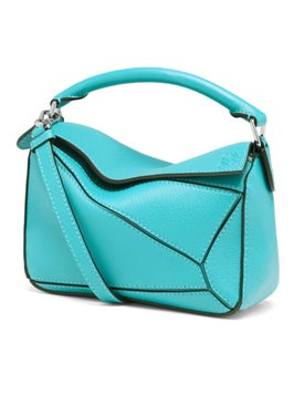 Loewe - Mini Puzzle Bag Leather Blue - Women