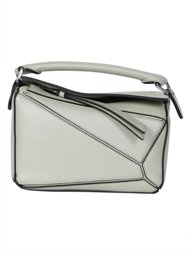 Loewe - Leather Mini Puzzle Bag Sage - Women