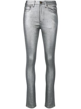 Saint Laurent - Metallic Skinny Jeans - Women