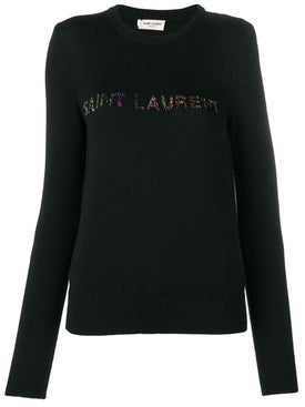 Saint Laurent - Embellished Logo Jumper - Women