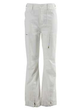 High-waisted Cargo Pant, white