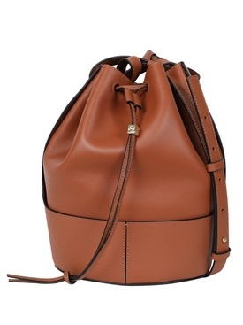 Loewe - Balloon Leather Shoulder Bag Brown - Women