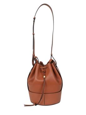 Balloon Leather Shoulder Bag Brown