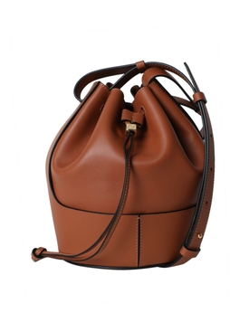 Small Balloon Drawstring Shoulder Bag TAN