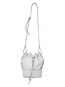 Small Balloon Drawstring Shoulder Bag SOFT WHITE
